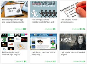 Some of my Fiverr Gigs