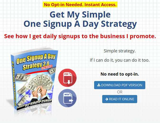 One-Signup-A-Day