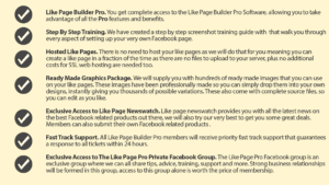 The content of your Facebook Like Page Builder 2.0 package
