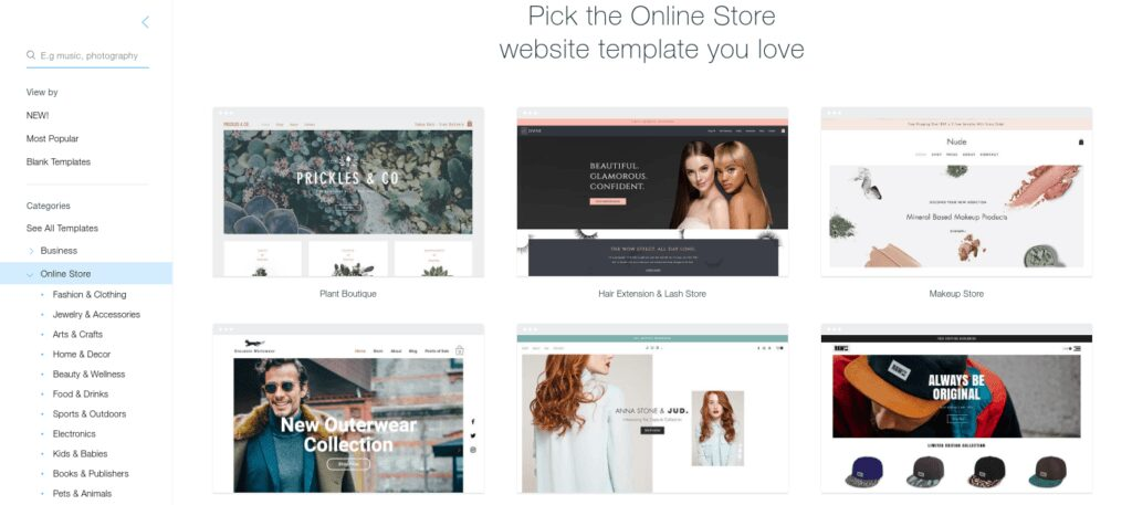 best free web design templates - Wix vs WordPress