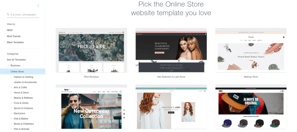 best free web design templates - Wix vs WordPress