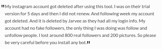 Jarvee and Instagram review