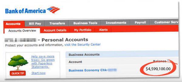 Affiliate Millionaire Club - Fake account balance