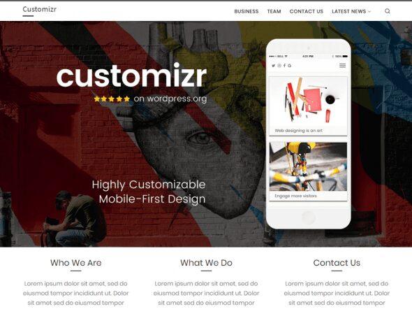 The best free themes of WordPress - Customizr
