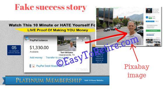 Affiliate Millionaire Club - Fake story