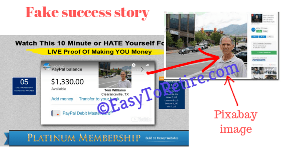 Affiliate Millionaire Club - Fake story