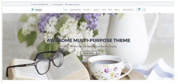 The best free themes of WordPress - Flash