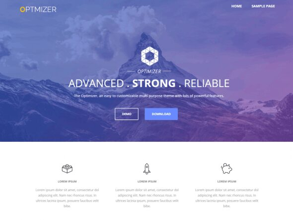 The best free themes of WordPress - Optimizer