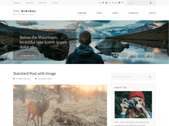 The best free themes of WordPress -The Minimal
