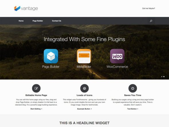 The best free themes of WordPress - Vantage