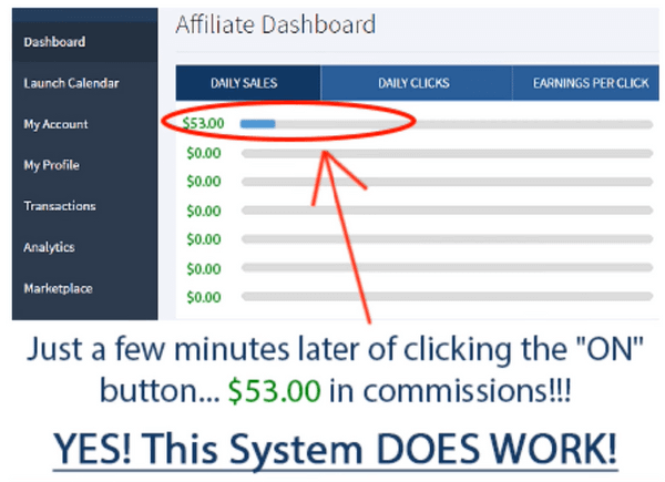Affiliate Millionaire Club - Proof of earnings