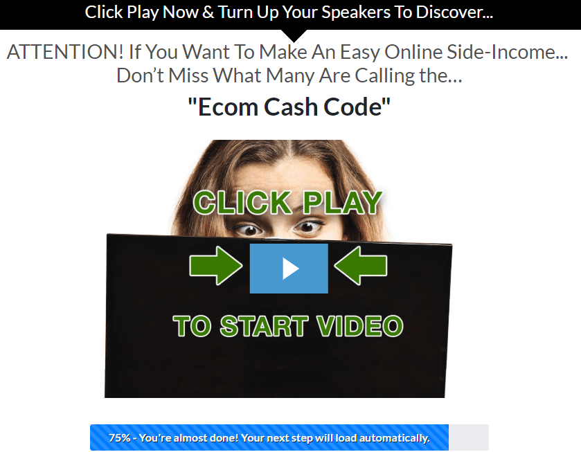 Same Ecom Cash Code, different website.