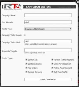 Rebrandabletraffic campaign editor
