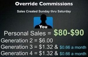 Motor Club of America override commissions schedule