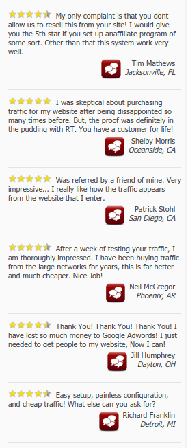 Rebrandable traffic customers reviews