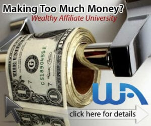 Making money in Wealthy Affiliate
