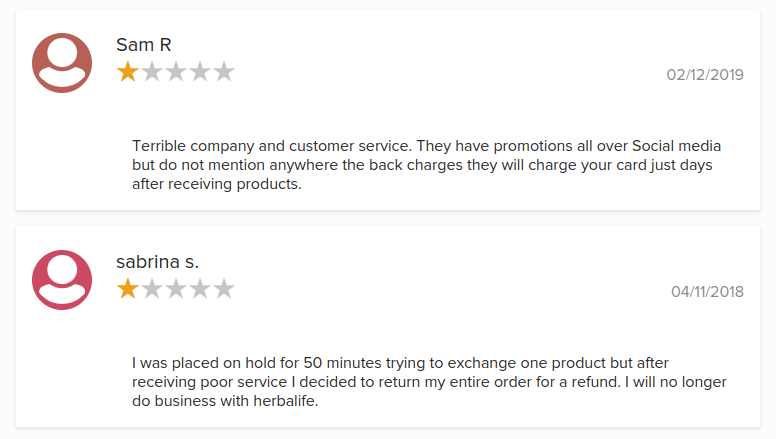 Better Business Bureau customers reviews about is herbalife a pyramid scam