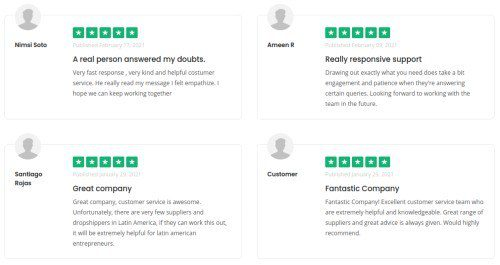 positive reviews - money in drop shipping
